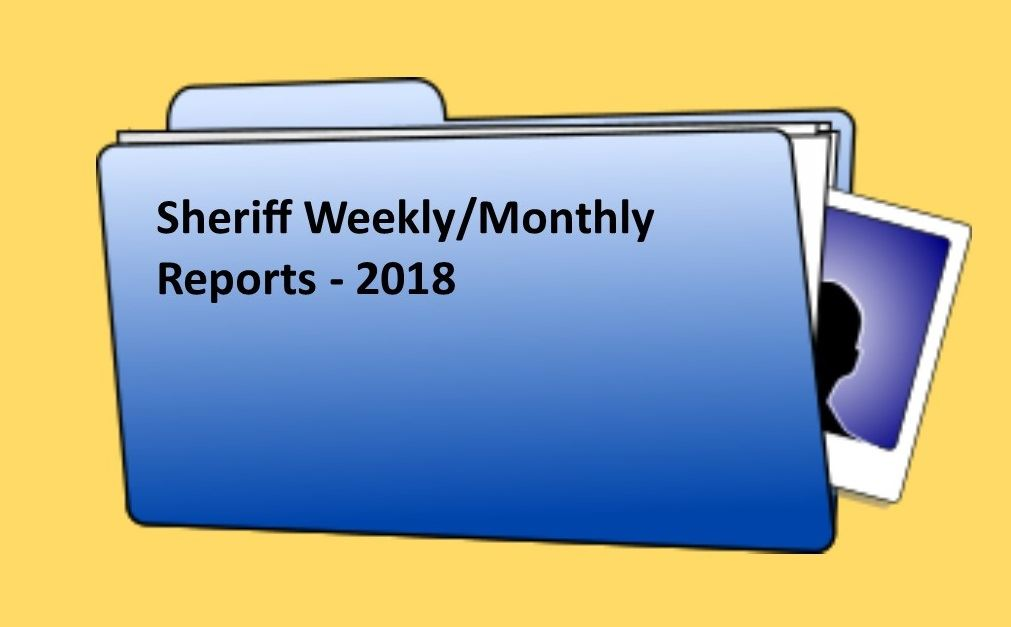 Sheriff Weekly Report  - 2018 v.2
