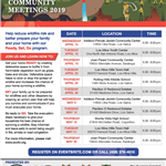 2019 Wildfire Prep. Community Meetings Flyer