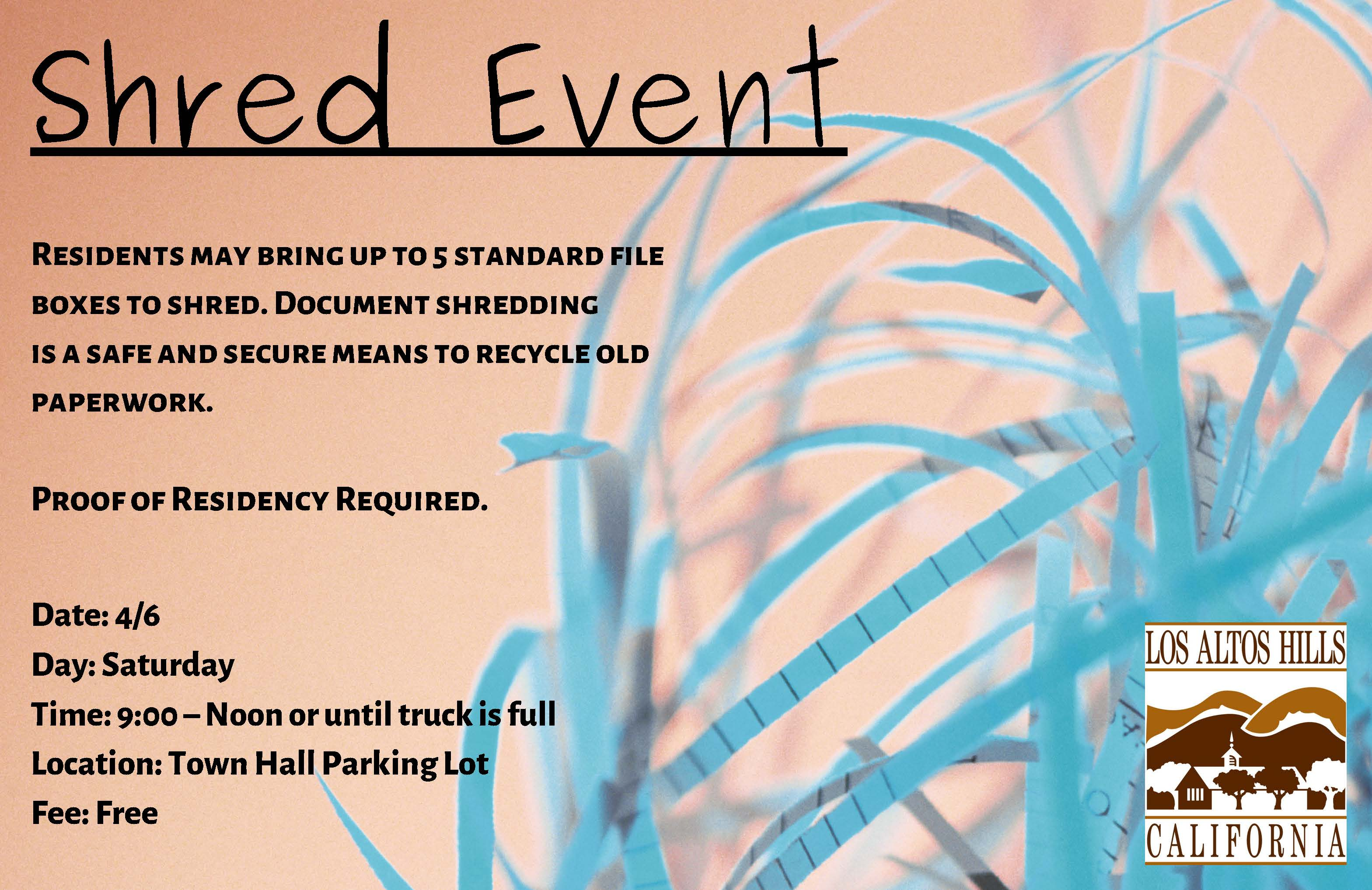 shred event flyer