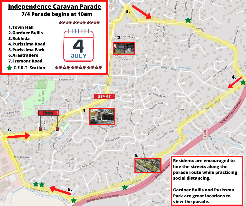 Independence Caravan Parade Route