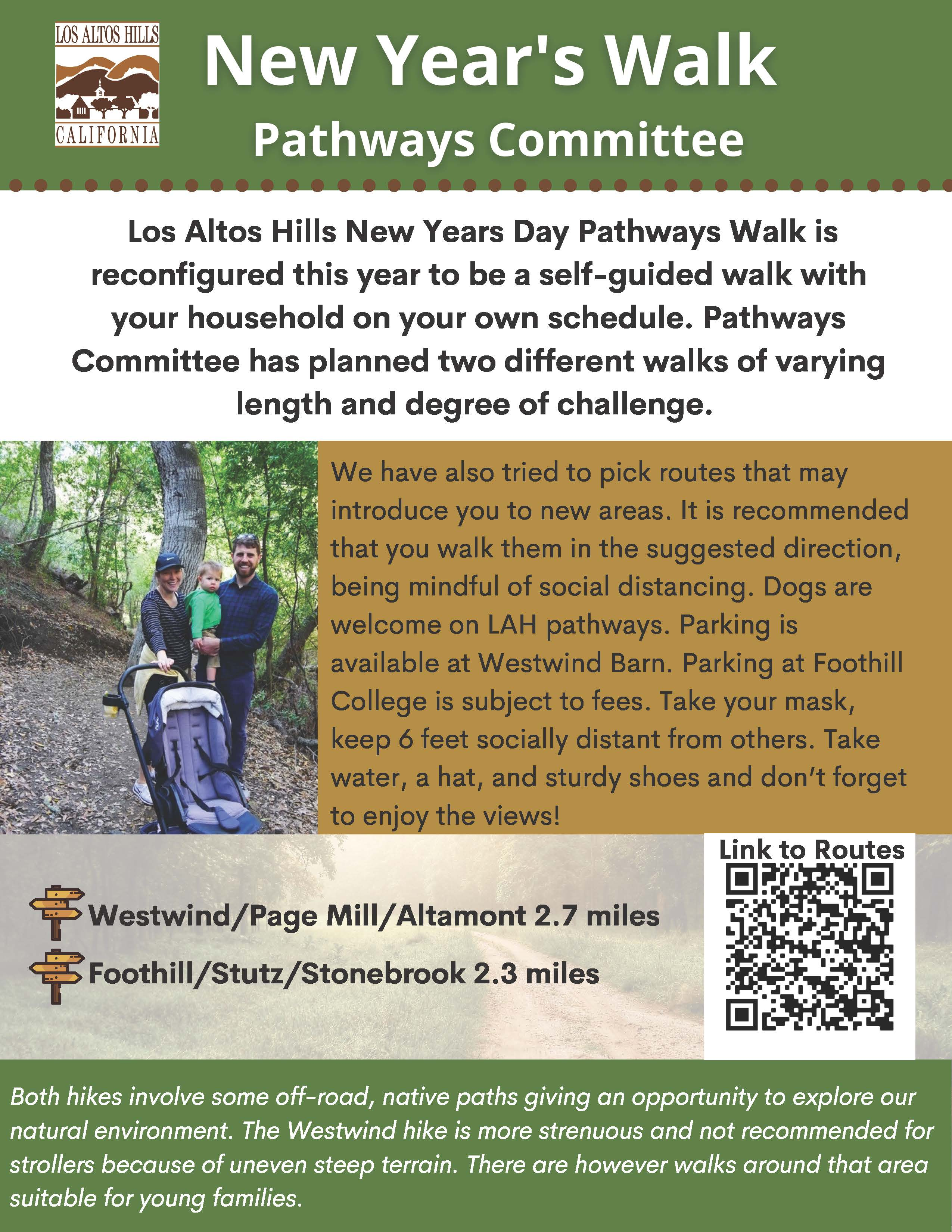 New Years Hike Flyer