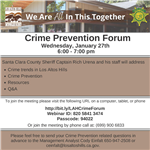 Crime Prevention Forum 1.27.21 Flyer