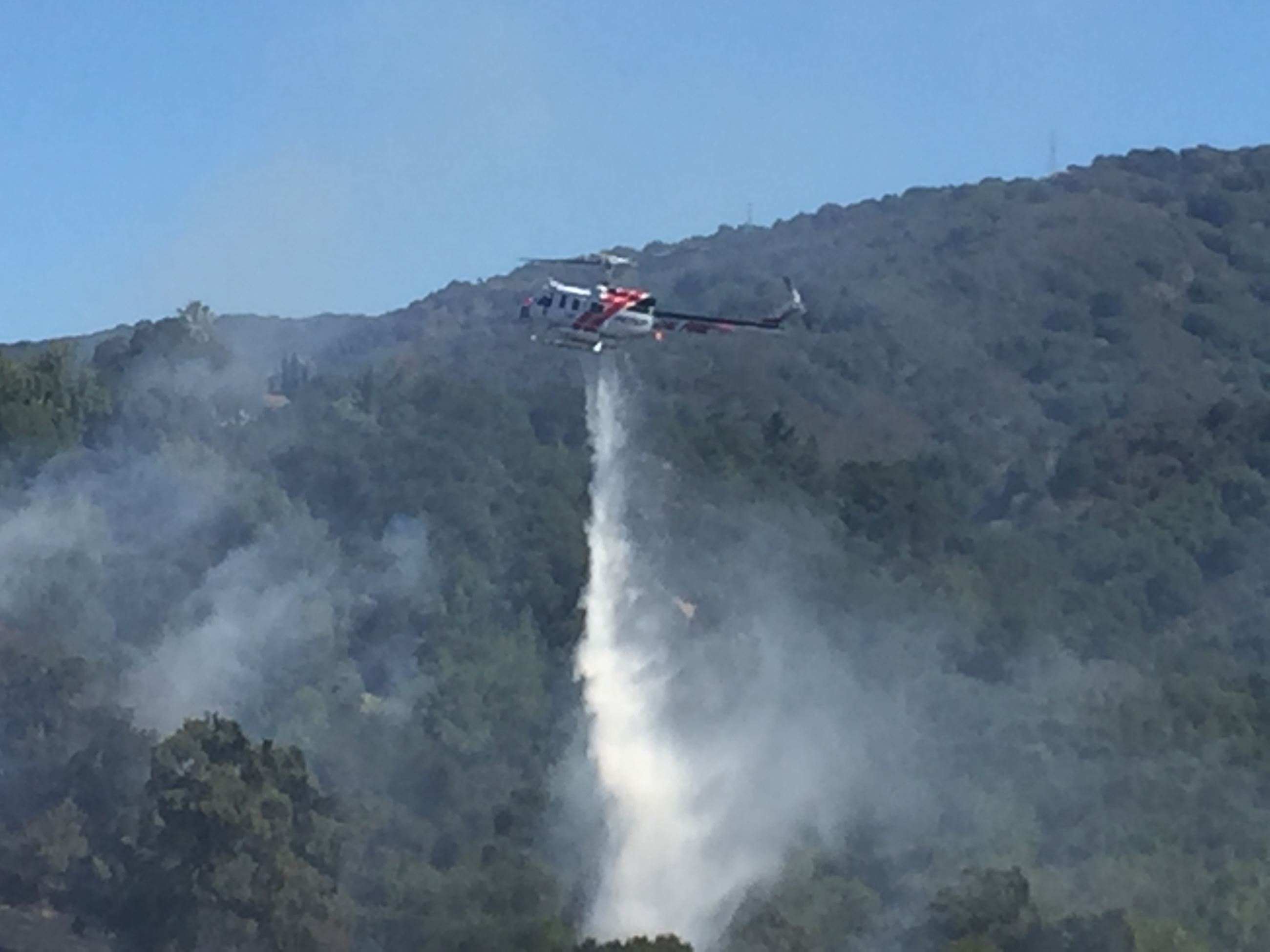 Helicopter Dropping Fire Retardant