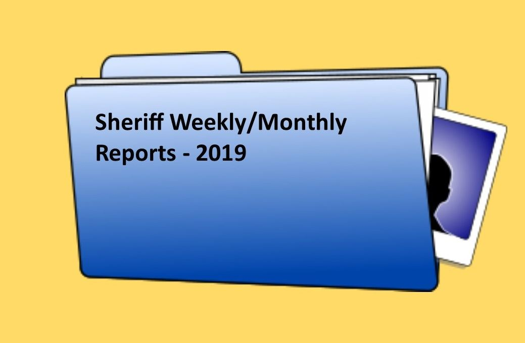 Sheriff Weekly Report - 2019