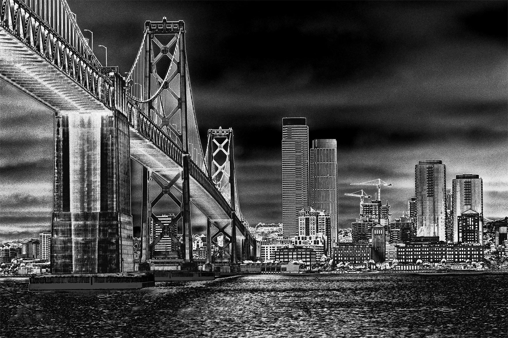 This is an image of San Francisco from the Ferry Building