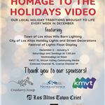 Homage to the Holidays Video Flyer
